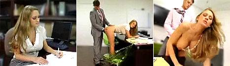 Follada sobre un escritorio